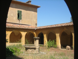 Photograph of the cloistered courtyard.