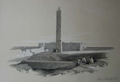 Cleopatra's needles sketched by David Roberts